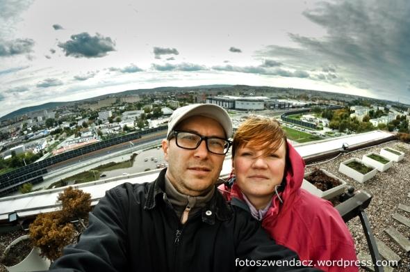 Kielce z dachu wieżowca EXBUDU (SKANSKA)